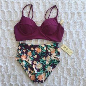 Tori Praver Swimwear High Waist Bikini Set